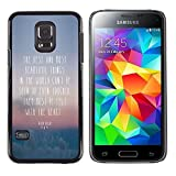 All Phone Most Case / Hard PC Metal piece Shell Slim Cover Protective Case for Samsung Galaxy S5 Mini, SM-G800, NOT S5 REGULAR! Beautiful Thing Felt Heart Quote Seen Touched