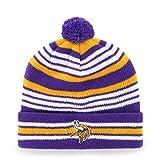 NFL Minnesota Vikings Kid's Rickshaw OTS Cuff Knit Cap with Pom, Purple, Kid's