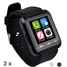 Huistore Bluetooth Android Smart Watch - 4.0 Smart Wrist Wrap Watch Phone for Smartphones IOS Android Apple iphone 5/5C/5S/6/6 Puls Android Samsung S3/S4/S5 Note 2/Note 3 Note 4 HTC Sony (Black)