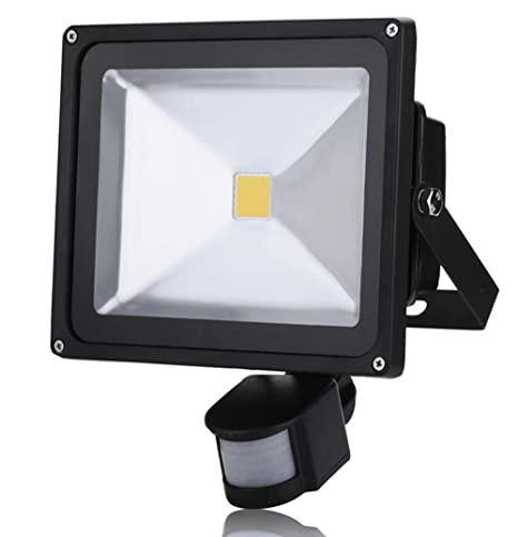 30W Foco LED con Sensor Movimiento, Proyector LED Exterior de ...