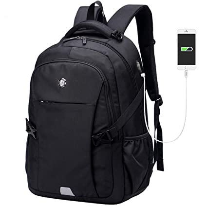 78cf8ff07310 Image Unavailable. Image not available for. Color: AUNLPB Backpack Men  Women Business Travel Computer Backpack School College Bookbag Stylish Water  ...