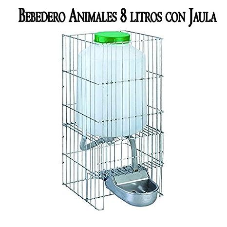 Suministros Infantes Bebedero Perros Gatos Animales Fabricado en Aluminio con DEPOSITO 8 litros. Medidas: 23x33x46 cm: Amazon.es: Jardín