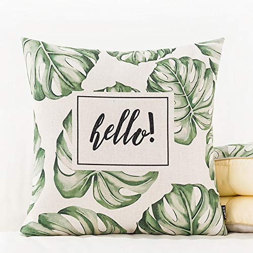 ARAYACY Green Cover Cushion, Nordic Fresh Literary Pillow Quilt Dual-Use Car Pillow Thickening Multi-Functional Pillow,W ()