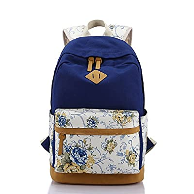 BOAOGOS Daypacks Occasionnels Les femmes d'impression Floral Sac à dos Sac d'école pour les jeunes filles de sacs à dos cartable Toile Enfants Femmes sac