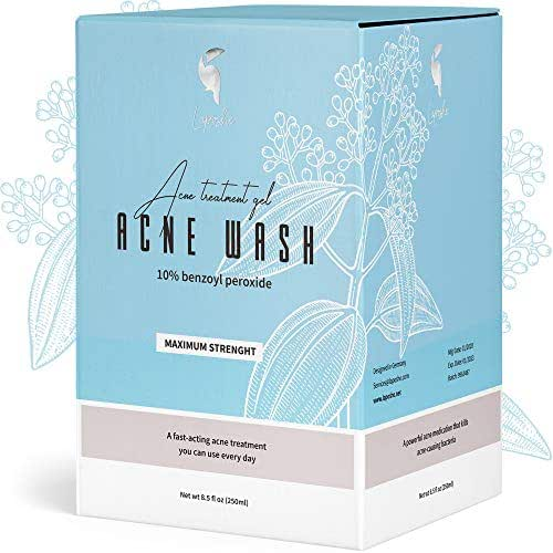 Benzoyl Peroxide 10% Acne Treatment Face Body Wash Cleanser Acne Wash Reduce Redness to Help Prevent Breakouts and Treat Skin Inflammation
