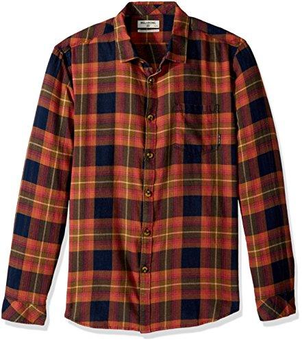 Billabong Men's Freemont Flannel, Navy, M