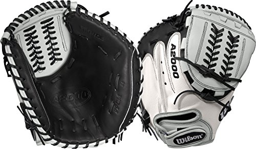 Wilson A2000 CM34 SuperSkin Fastpitch Glove, Black/White, 34