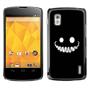 XYTE Slim Case Cover Backcover Frame Shell LG GOOGLE NEXUS 4 // Halloween Creepy Scary Smile //