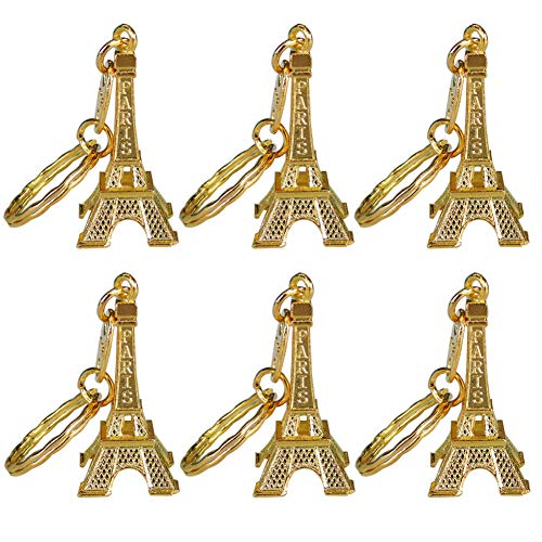 Ceeyali 20 Pcs 5cm Metal Paris Eiffel Tower Craft Art Statue Model for Table Decor,Cake Topper,Gifts,Party,Jewelry Stand Holder,Home Decoration (Gold Color 20 Pcs) (Tree Tower Christmas Eiffel Ornament)