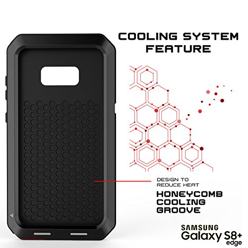Galaxy S8 Plus Metal Case, Heavy Duty Military Grade Rugged Armor Cover [shock proof] Hybrid Full Body Hard Aluminum & TPU Design [non slip] W/ Prime Drop Protection for Samsung Galaxy S8+