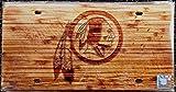 Washington Redskins Woodgrain Design Deluxe Laser Cut Acrylic Inlaid License Plate Tag Football