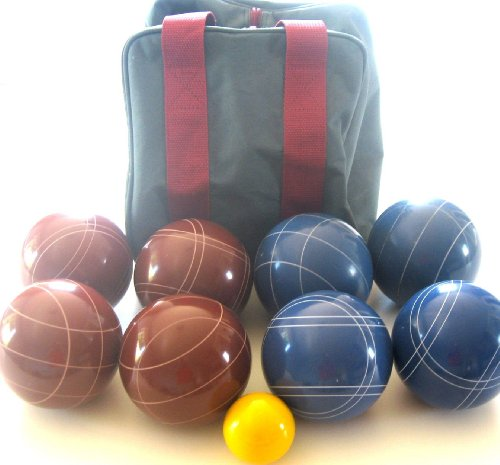 Epco Premium Quality Tournament Set, Red and Blue Bocce Balls - 110mm. Bag included. [Misc.]