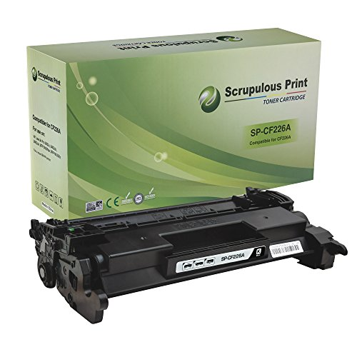Scrupulous Print Compatible High Yield Toner Cartridge Replacement for CF226A CF226X, for use with HP LaserJet Pro M402d, M402dn, M402dne, M402dw, M402n, M426dw, MFP M426fdn, MFP M426fdw (Black)