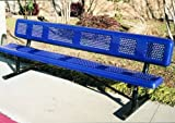 excellent design ideas for patio seating areas Webcoat Inc. B8WBPERFP Perforated Style Benches