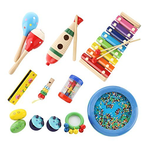 Bibnice Kids Toys Musical Instruments Backpack Include Xylophone