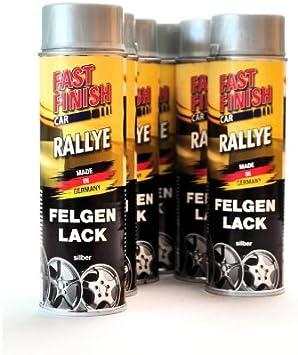 Dupli Color Fast Finish Car Rallye 1k Autolack Felgenlack Silber 6 X 500 Ml 292842 6 Auto
