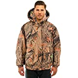 TrailCrest Men's Insulated & Waterproof Camo Hunters Tanker Jacket, 2X, Forest