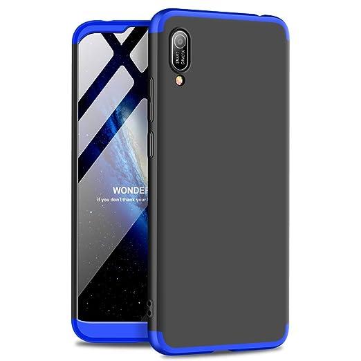GoodcAcy Funda Huawei Y6 2019,Carcasa Móvil de Protección de 360°+ Cristal Templado HD Protector de Pantalla 3 en 1 Desmontable con Caso Case Cover ...