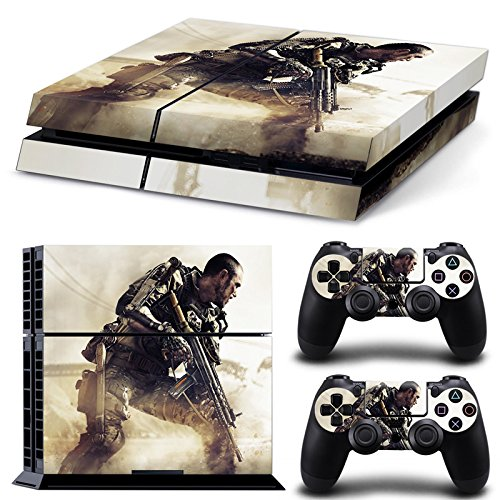 Hambur® PS4 Console Designer Skin for Sony PlayStation 4 System plus Two(2) Decals for: PS4 Dualshock Controller --- Call of Duty: Black Ops ()