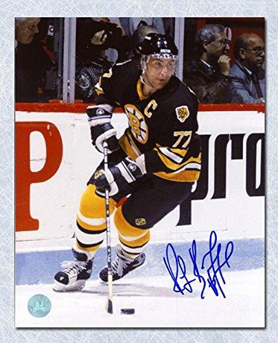 Signed Ray Bourque Photograph - 16x20 1980s - Autographed NHL Photos