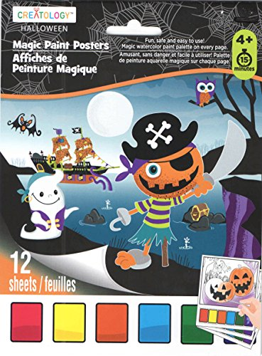 Creatology Magic Paint Posters ~ Halloween Edition (A Pirates Tale, Ghost Time Fun; 12 Posters, 6