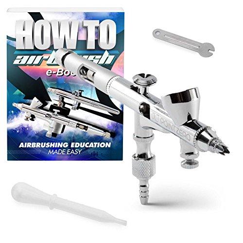 PointZero Precision Dual-Action 2cc Gravity-Feed Airbrush MAC Crown Cap .2mm