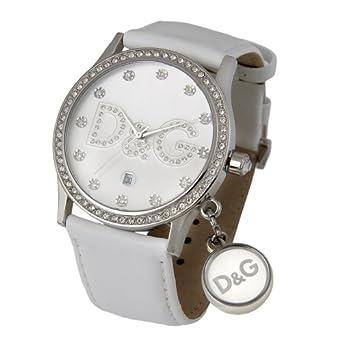 7339bde960528f Dolce Gabbana - Gloria DW0091 - Montre Femme - Quartz - Bracelet Cuir Blanc