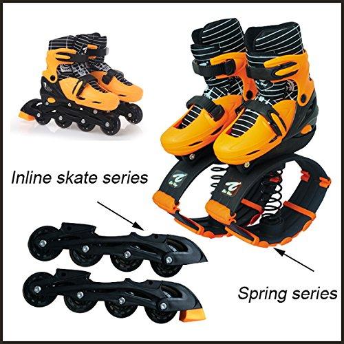 Bounceblade Rollerblade Hybrid Fitness Shoe orange fits EURO 31-34, US...