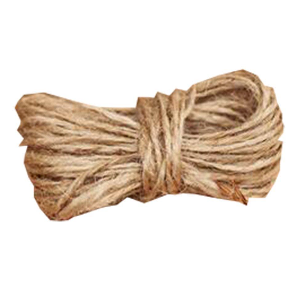 Freedi 100% Natural Hemp Rope Jute Rope Twisted Sisal Rope Best Arts Crafts Gift Twine Industrial Packing Materials 4mm Thickness Restraint Sex Bondage Rope , 10 Meters