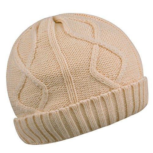 Warm Beanies Wool Fleece Lined Winter Knit Hats Thick Skull Caps for Men Women - Fleece Wool Lined
