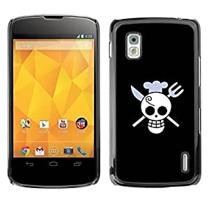 Impact Case Cover with Art Pattern Designs FOR LG Nexus 4 E960 Funny Skull Chef Death Betty shop