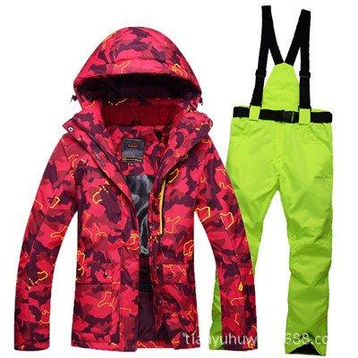 Women Jacket Men Zipper JACKETS Waterproof FYM Pants Warm Suit DYF Ski Orange Windproof Coat Green ZqtwYx7