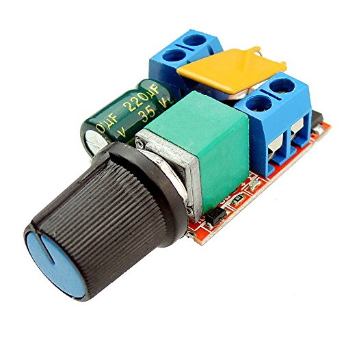 uniquegoods Mini DC Motor PWM Speed Controller 5V 6V 12V 24VDC 5a DC Motor Speed Control Switch LED Dimmer (Wiring A Potentiometer To A Dc Motor)