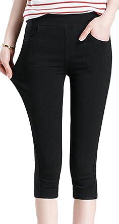 73ccea2a296 XiaoTianXin-women clothes XTX Womens Summer High Waist Skinny Stretch  Butt-Lift Capris Pants