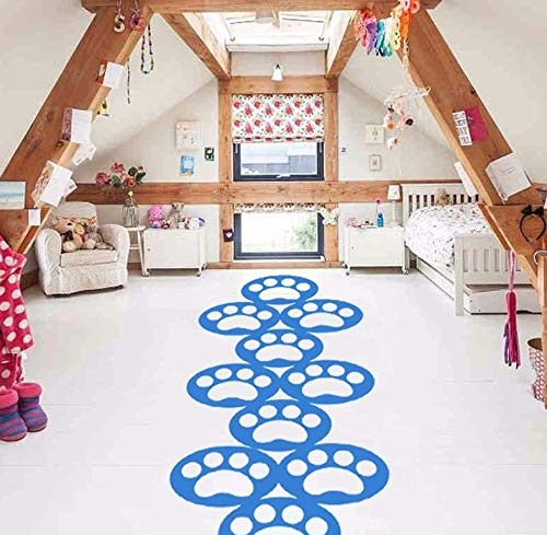Wall Stickers Hopscotch Cartoon Wall Stickers for Nursery Personalized Floor Stickers Family Games Childhood Memories Jump Vinyl Decals]()