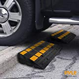PYLE Car Vehicle Curbside Driveway Ramp-2PC Heavy