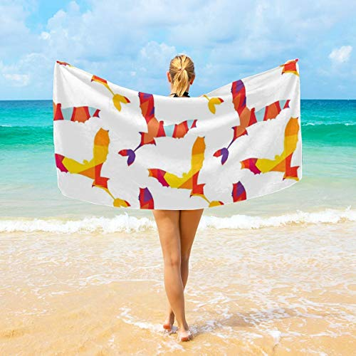 NiYoung Bath Towels, Flying Birds Hand Towels 100% Plush Yoga Towel High Absorbency Fitness Towel Quick Drying Bath Sheets for Home Hotel Spa (28x56 inch)