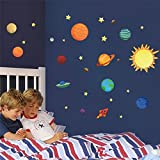 educational solar system planets children boys kids baby nursery bedroom decoration