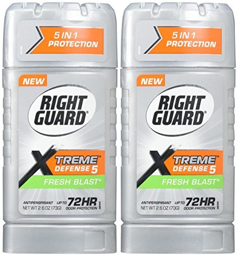 Gel Fresh Blast - Right Guard Extreme Defense 5-Fresh Blast Antiperspirant - 2.6 oz - 2 pk