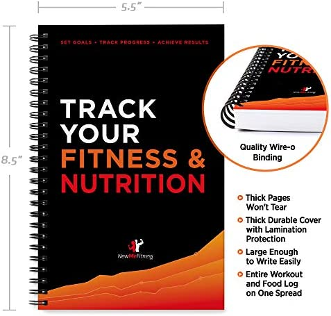 Workout/Fitness and/or Nutrition Journal/Planners - Designed by Experts, w/Illustrations : Sturdy Binding, Thick Pages & Laminated, Protected Cover 9