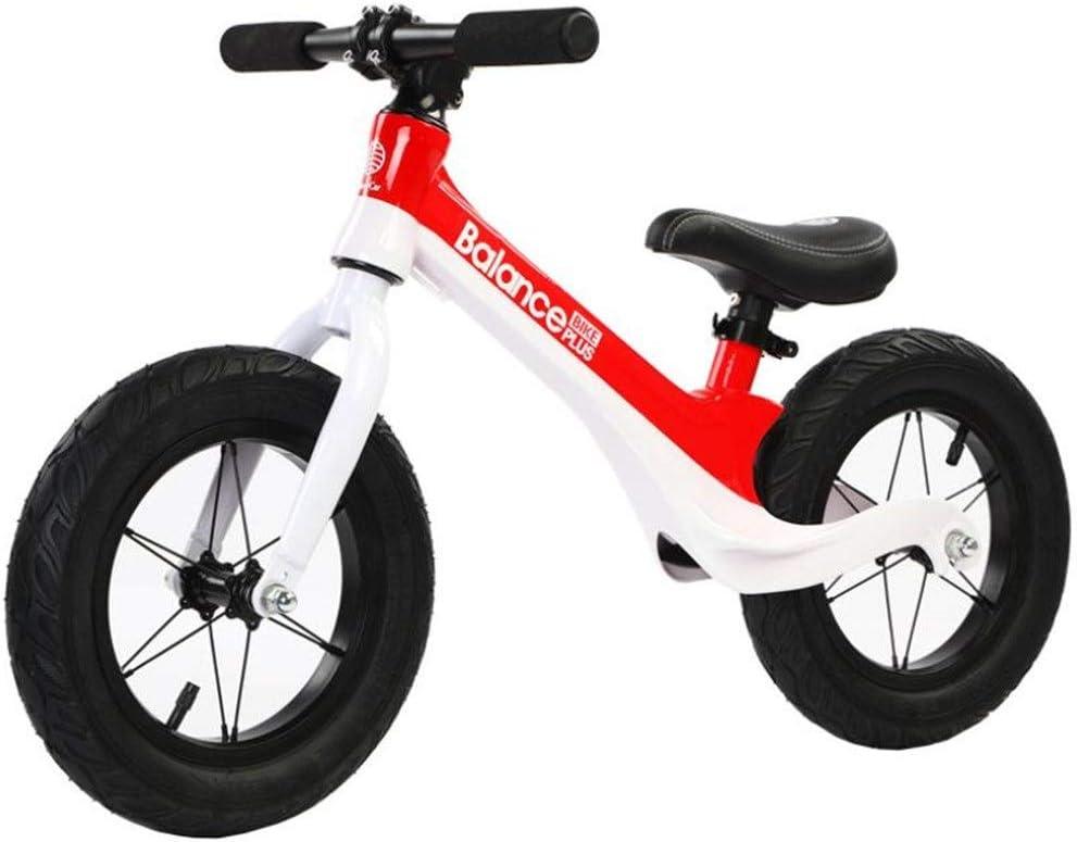 LXIANGP Andador de Bicicletas para Niños 12 Pulgadas Bicicletas de Equilibrio para niños Sin Pedal Edad 2-6 Aleación de magnesio para Caminar Aprendiendo Bicicleta para Chicos Chicas Fácil de Retraer