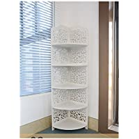 VERCART Pvc Bathroom Carved Wood Board Room Accommodating Racks Landmark Type 5 Layer Shoe Rack
