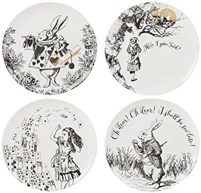 Decorado con el original dibujada a mano ilustraciones del libro de Alicia en el País de las Maravil
