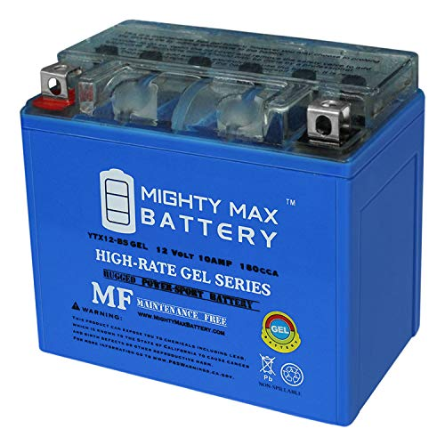 Mighty Max Battery YTX12-BS 12V 10AH Gel Motorcycle Battery for Honda, Suzuki, Kawasaki Brand Product