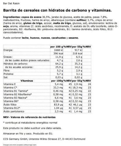 Nutrixxion ENERGíA BARRITA Set 5 x 55g, Geschmack Fruit: Amazon.es: Salud y cuidado personal