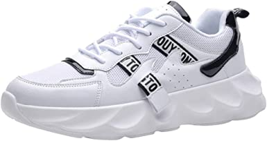 Mxjeeio 💖 Zapatillas de Deporte Hombres Fashion Fly Knit Zapatos ...
