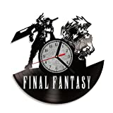 Final Fantasy VII Game PC Art Vinyl Record Wall Clock. Living Room decor. Perfect gift for your kids and children. Decorative elements for home.