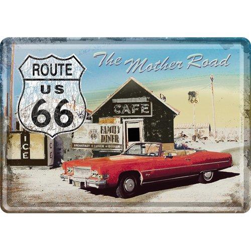 Nostalgic-Art cartolina metalla 10 x 14 cm - Route 66 The Mother Road kingofprezzies.com 16315 takaos-6313943-24
