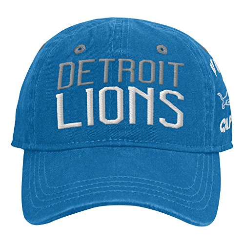 Outerstuff NFL NFL Detroit Lions Infant My First Slouch Hat Lion Blue, Infant One Size