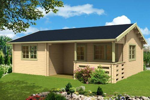 Casa para el jardín Falun C 70, casa de madera, 780 x 595cm, casa de madera, 70mm, casa de vacaciones de madera: Amazon.es: Jardín